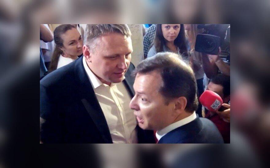 Ukrainos Radoje susimušė Olehas Liaško ir  Oleksandras Ševčenka