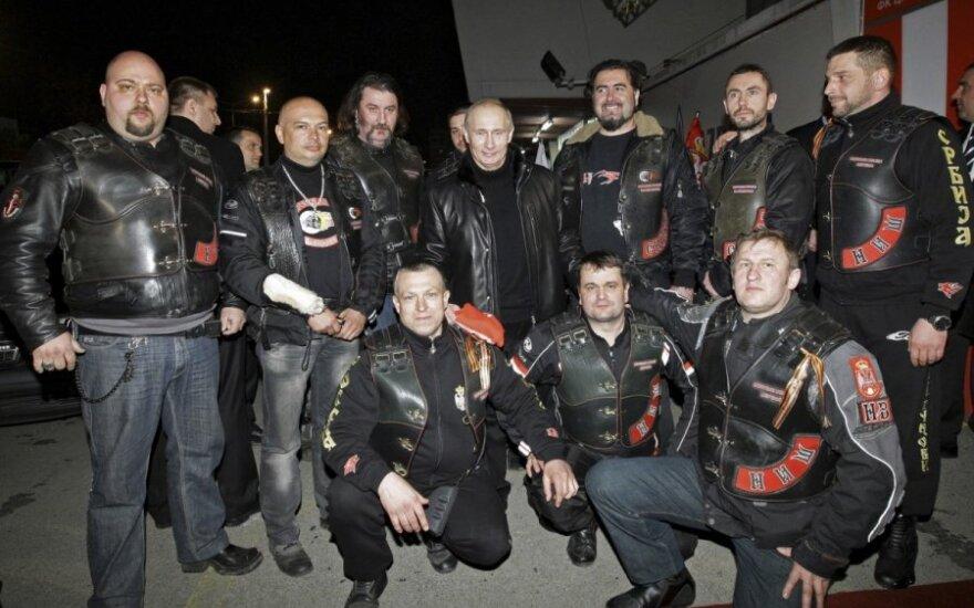 """Maskvos baikerių grupė """"Nakties vilkai"""" ir Vladimiras Putinas"""