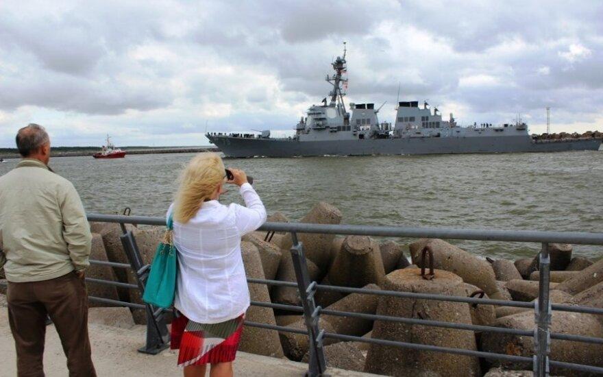 USS Oscar Austin arrived to Klaipėda