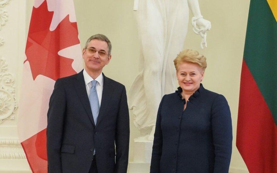 Presentation of credentials by Canada's ambassador to Lithuania Alain Hausser. Official photos by Robertas Dačkus