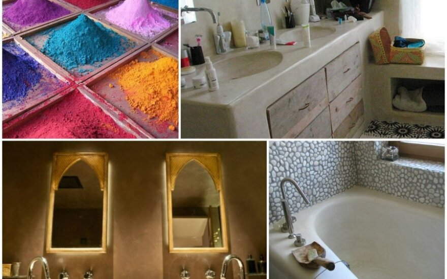 Vonios, dekoruotos tadelakt tinku