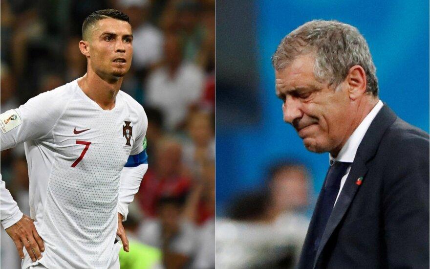 Cristiano Ronaldo ir Fernando Santos