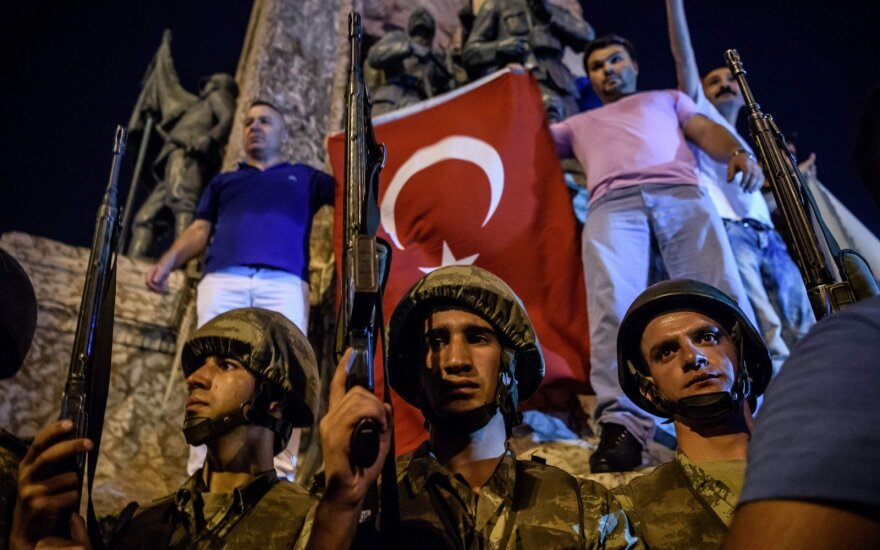 Failed coup 'strong shock to democracy' in Turkey - Lithuanian minister