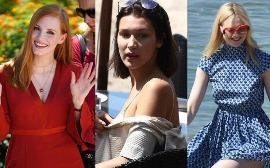 Jessica Chastain, Bella Hadid, Elle Fanning