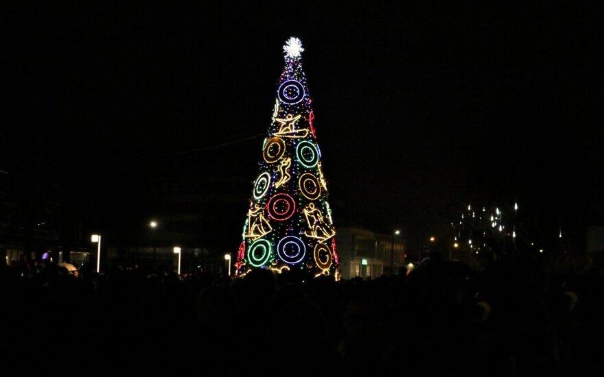 Kalėdų eglutės Alytuje įžiebimas