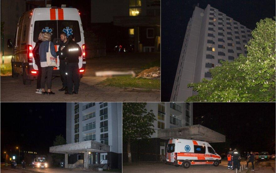 Tragiškas įvykis Vilniuje: žuvo per studentų bendrabučio balkoną iškritusi 19-metė