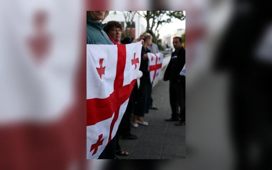 Gruzijos palaikymo akciją prie Rusijos ambasados Reikjavike