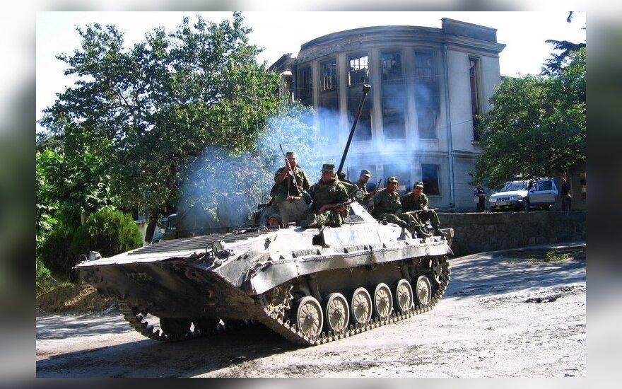 Rusijos - Gruzijos konfliktas 2008 m., rusų kariai Pietų Osetijoje