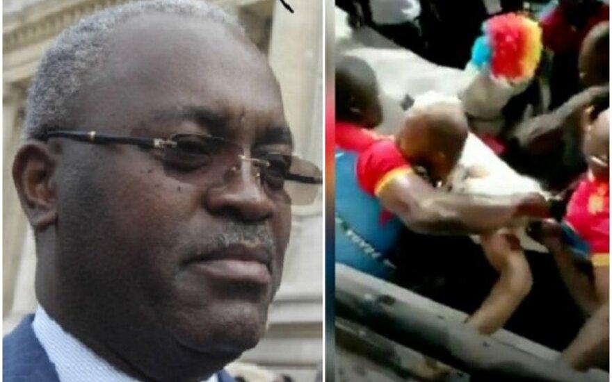 Futbolo sirgaliai užpuolė Kongo Demokratinės Respublikos sporto ministrą Hugesą Ngouelondelę