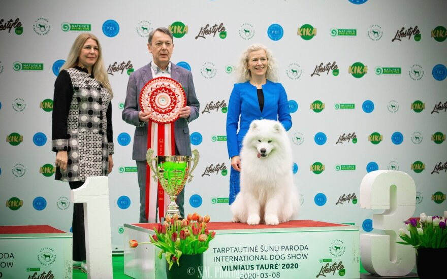 Šunų parodos Vilniuje kovo 6-8 d. nugalėtojai