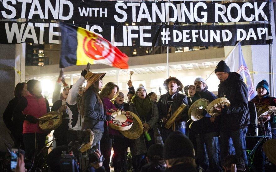 Protestas prieš naftotiekių statybą JAV