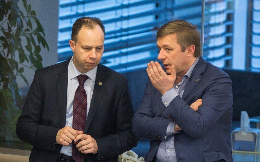Aurelijus Veryga ir Ramūnas Karbauskis