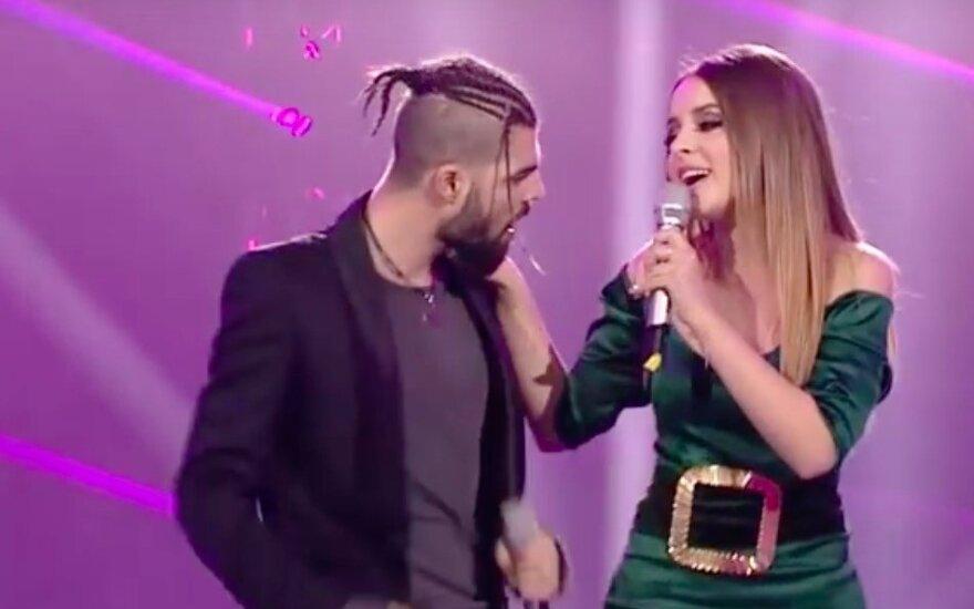 """Rumunijos atstovai """"Eurovizijoje"""" Ilinca ir Alexas Florea"""