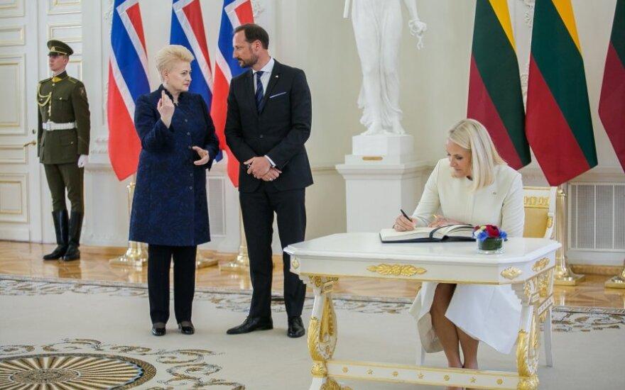 Grybauskaitė susitiko su Norvegijos sosto įpėdiniu