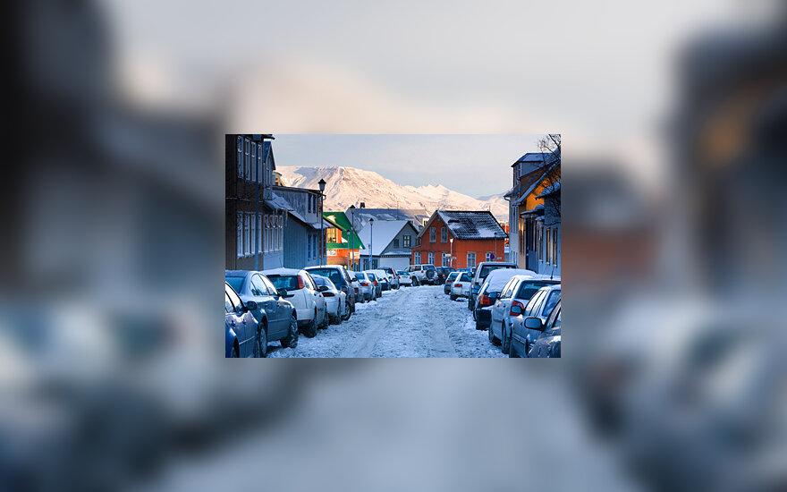 Islandija, žiema, Reikjavikas