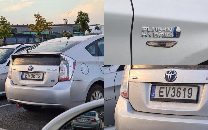 Suglumo: kodėl hibridinis automobilis gavo elektromobiliams skirtą valstybinį numerį