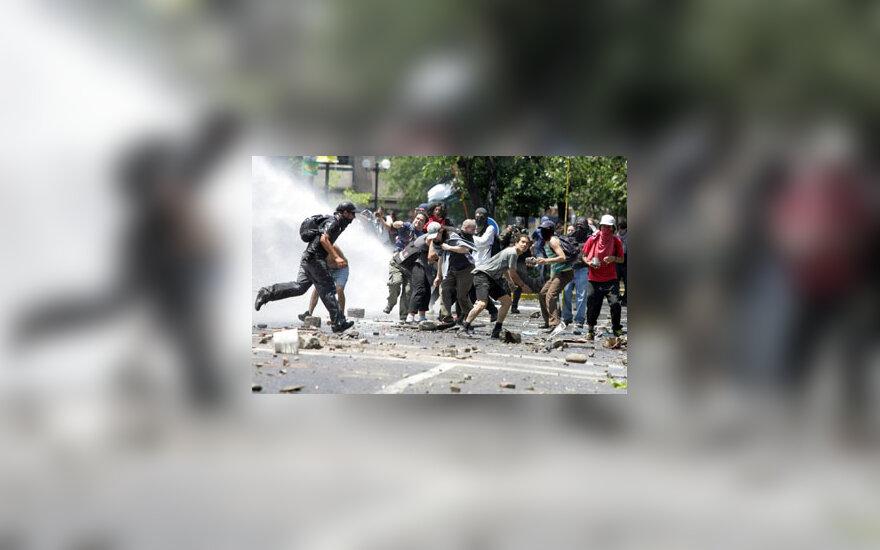 Demonstrantai Čilėje susirėmė su policija
