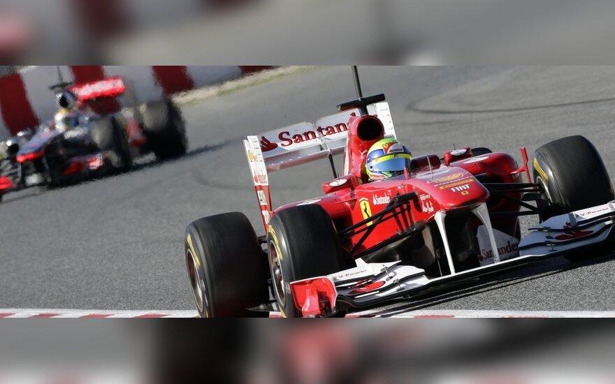 Felipe Massa pirmavo Barselonoje