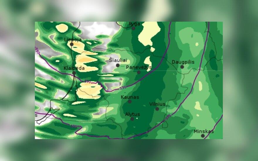 Tarnybos jau perspėja: situacija naktį bus labai sudėtinga, dalyje Lietuvos – galingas vėjas ir lietus