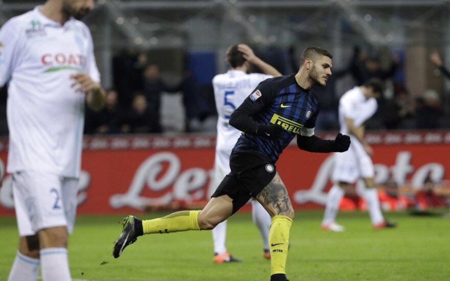 """Milano """"Inter"""", įvarčiu džiaugiasi Mauro Icardi"""