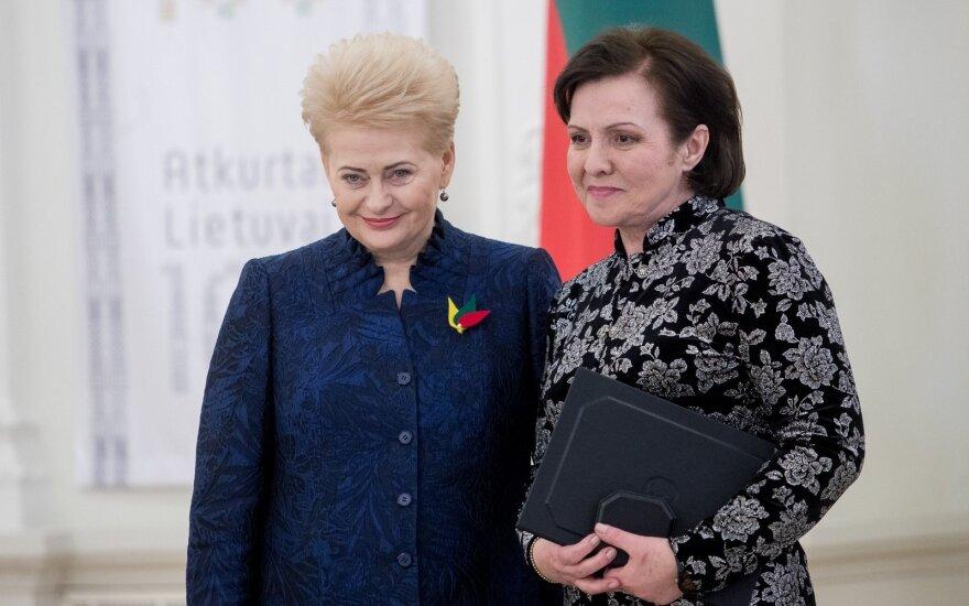 Dalia Grybauskaitė ir Eglė Gabrėnaitė