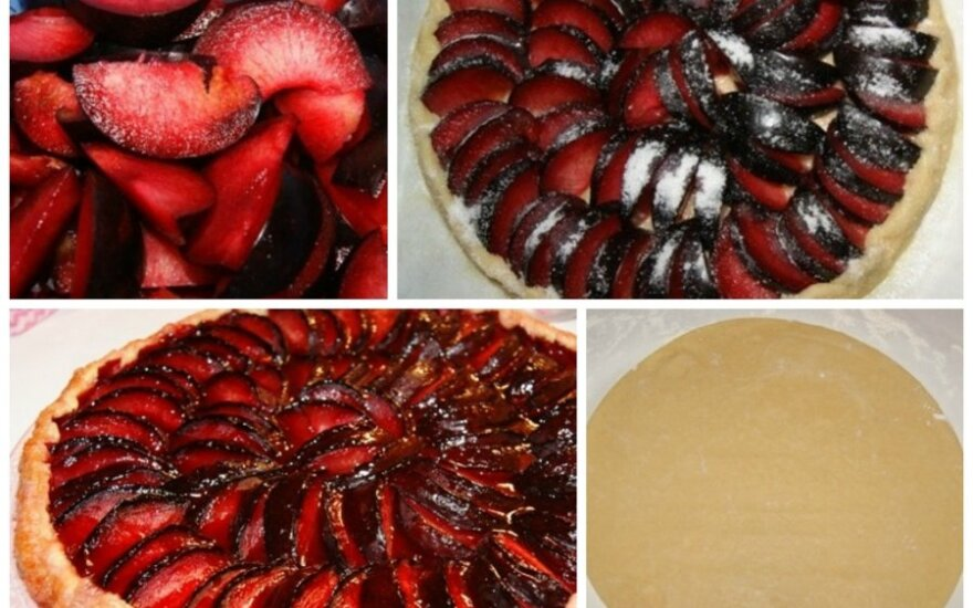 Prancūziškas slyvų pyragas