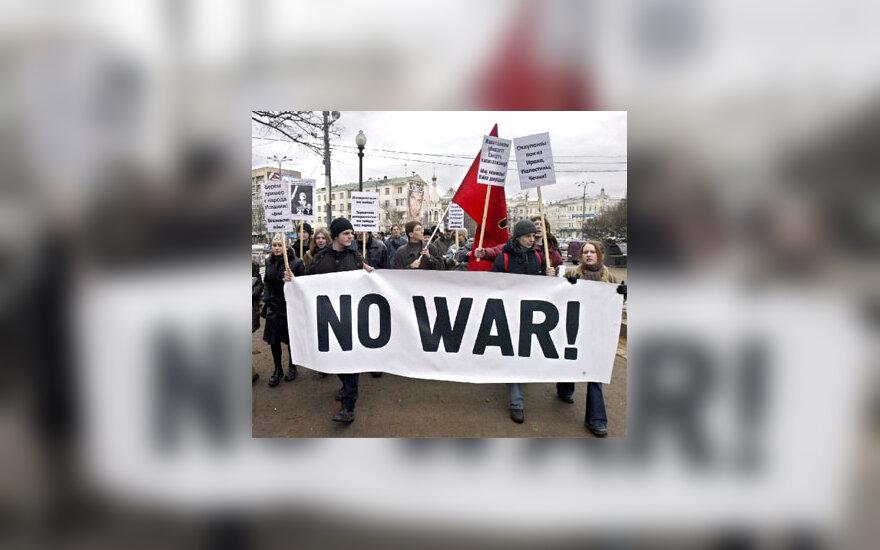 Rusijos jaunuoliai protestuoja prieš karą Irake