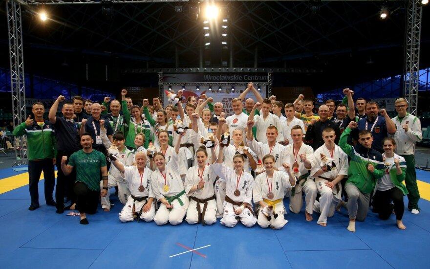 Jaunieji Lietuvos kiokušin karatė kovotojai šiandien įrodė, kad yra geriausi Europoje.