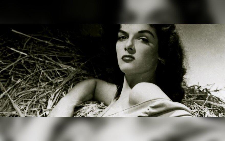 """Jane Russell filmo """"Už įstatymo ribų"""" reklamoje"""