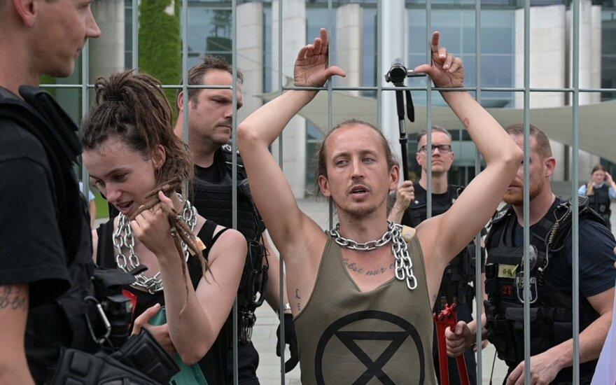 Protestuotojai Vokietijoje