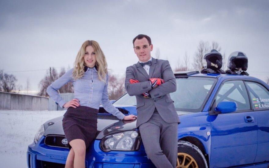 """R. Šeinauskas ir R. Krikščiūnaitė važiuos """"Subaru Impreza WRX"""""""