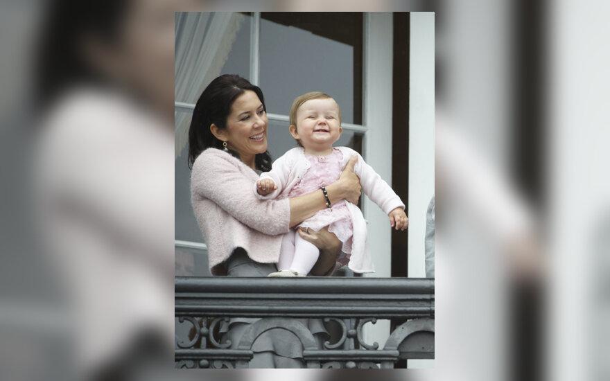 Danijos princesė Mary su dukrele Isabella