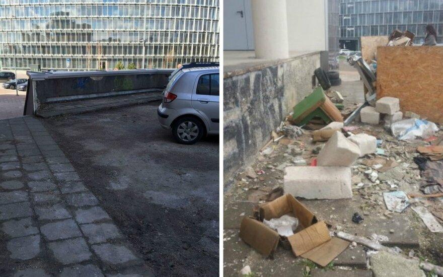 Vilnius tvarkosi: po skundo šiukšlių krūvos dingo