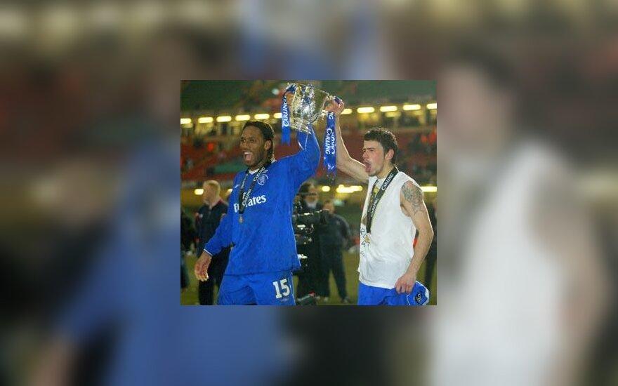 """Didier Drogba ir Mateja Kežmanas (""""Chelsea"""")"""