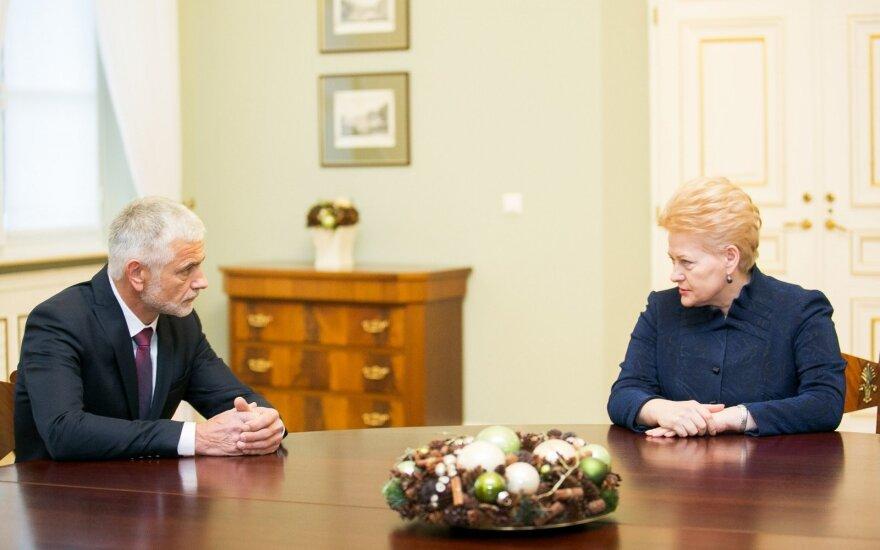 Bronius Markauskas and Dalia Grybauskaitė