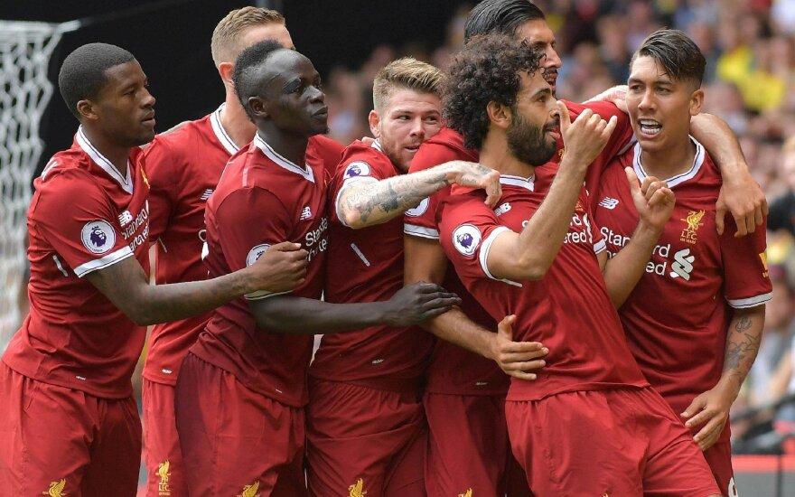 """Lygiosiomis Anglijos čempionatą pradėję """"Liverpool"""" futbolininkai išvykoje susitiks su """"Hoffenheim"""" ekipa."""