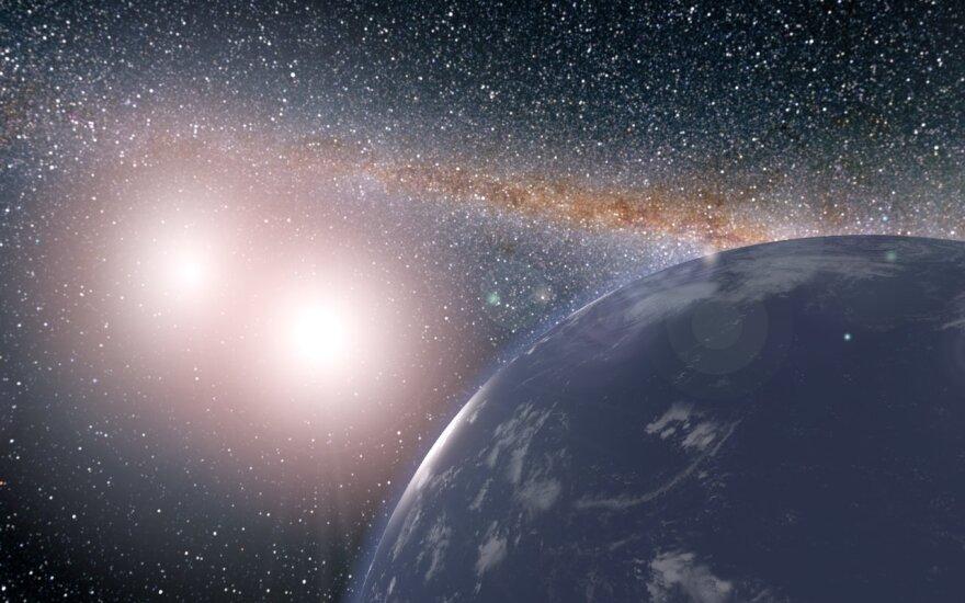 Aplink dvi žvaigždes besisukanti Kepler-16b egzoplaneta
