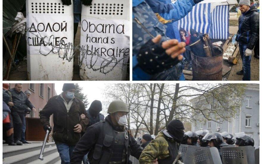 Prorusiški kovotojai Ukrainos Rytuose užima valstybinius pastatus