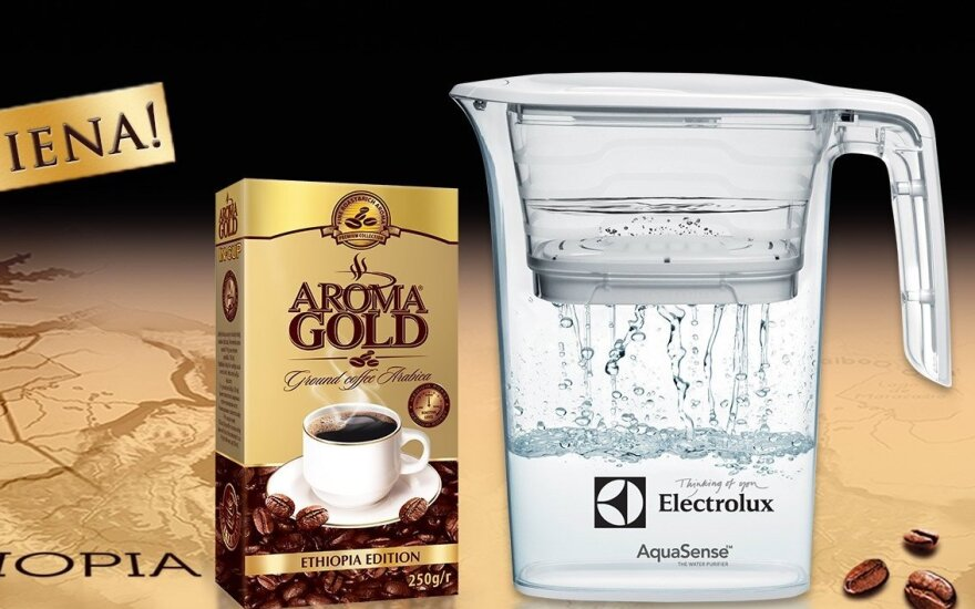 AROMA GOLD ETHIOPIA EDITION  ir modernus vandens filtras ELECTROLUX