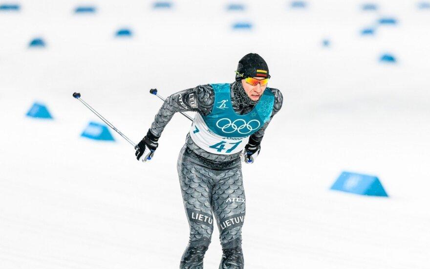 Pjongčango olimpiada: sprintas klasikiniu slidinėjimo stiliumi. Modestas Vaičiulis ir Mantas Strolia