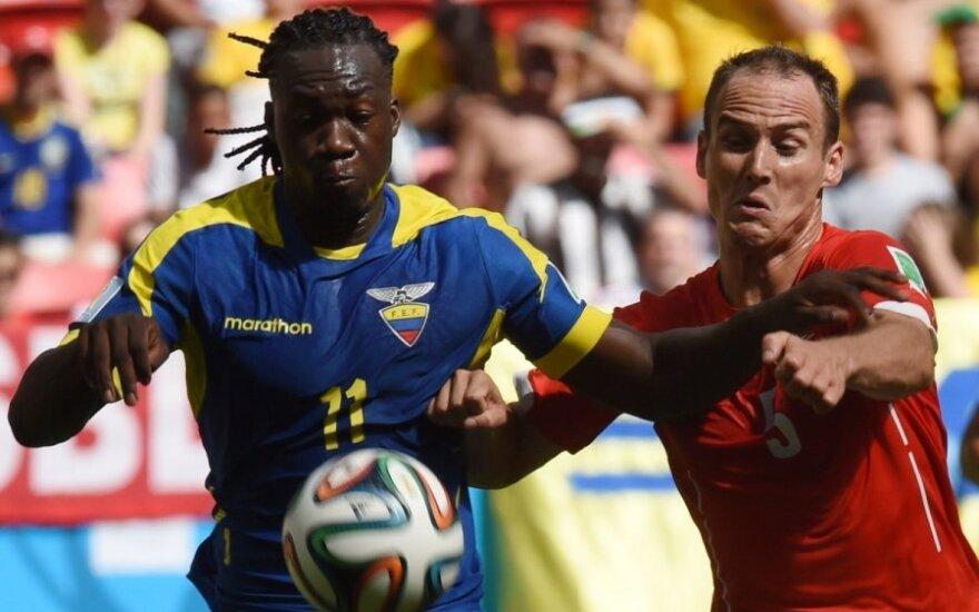 Pasaulio futbolo čempionatas. Šveicarija - Ekvadoras