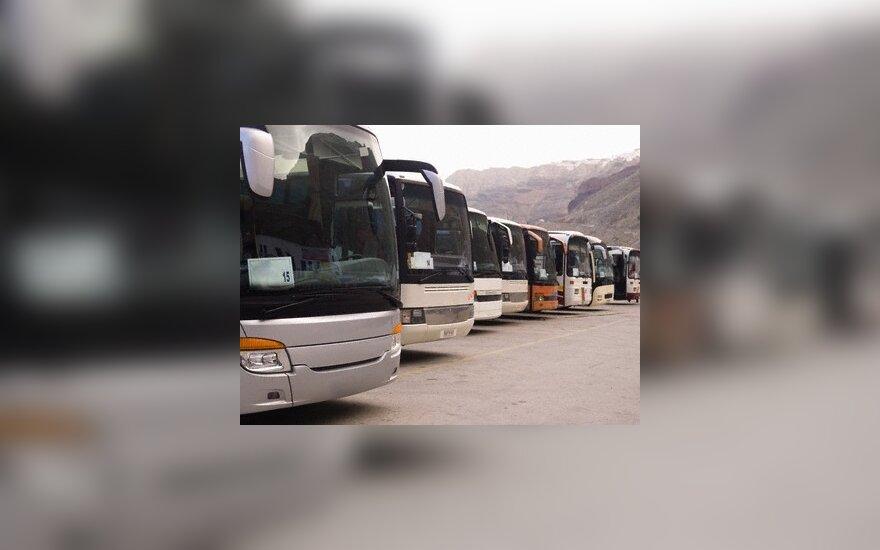 Šalčininkų autobusų parko direktoriui - 450 Lt bauda už dvikalbę autobuso maršruto lentelę