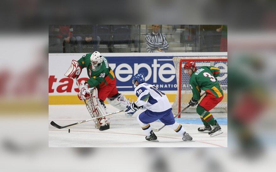 Lietuvos ledo ritulininkai neatsilaikė prieš kazachus - 1:5 <font color=#6699CC><strong> (komentarai)</strong></font>