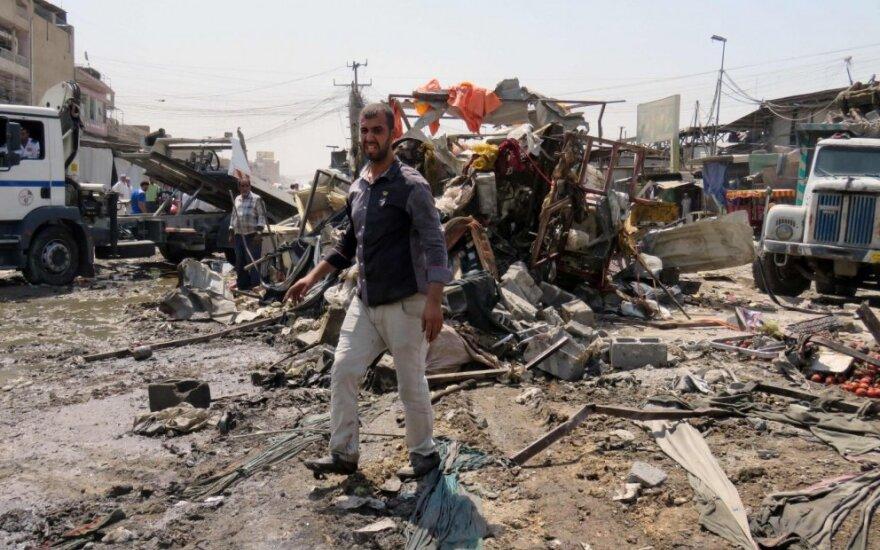 IS prisiėmė atsakomybę už 8 gyvybių pareikalavusį sprogdinimą Bagdade