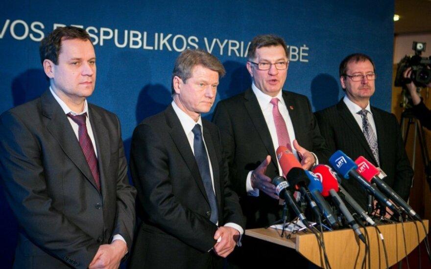 Valdemaras Tomaševskis, Rolandas Paksas, Algirdas Butkevičius ir Viktoras Uspaskichas