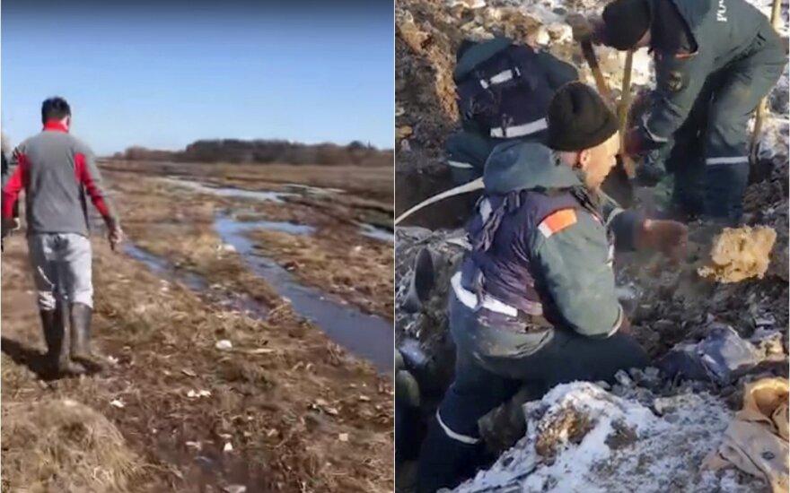 Rusijos lėktuvo katastrofos vietoje – tikras siaubas: praėjus dviems mėnesiams rado kūno dalių