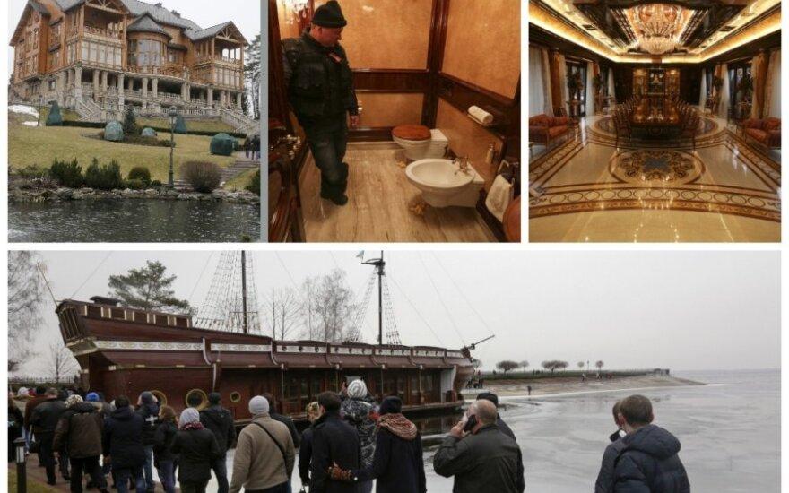 Pribloškianti V. Janukovyčiaus rezidencijos prabanga su zoologijos sodu ir nuosava degaline