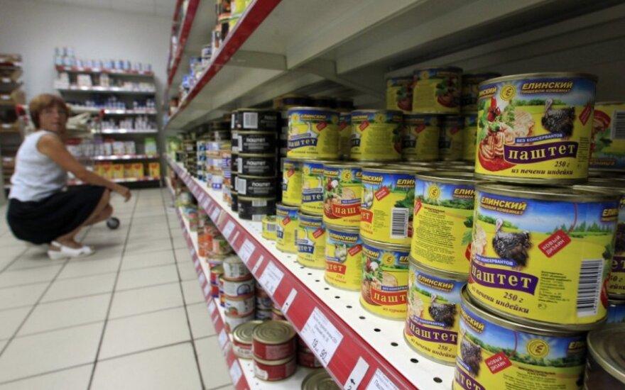 Maistas Rusijoje šiemet brangsta 2,4 karto sparčiau nei ES