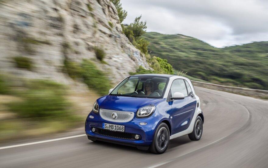 Europiečiams nebepatinka maži automobiliai