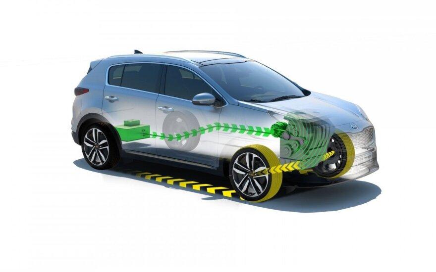 """""""Kia"""" gamoje debiutuos dyzelinis hibridinis automobilis"""